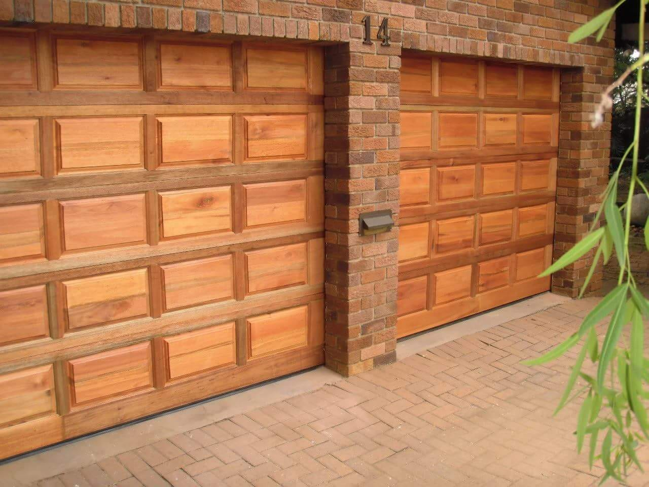 single-wooden-garage-door-&amp-motor-installed-combo
