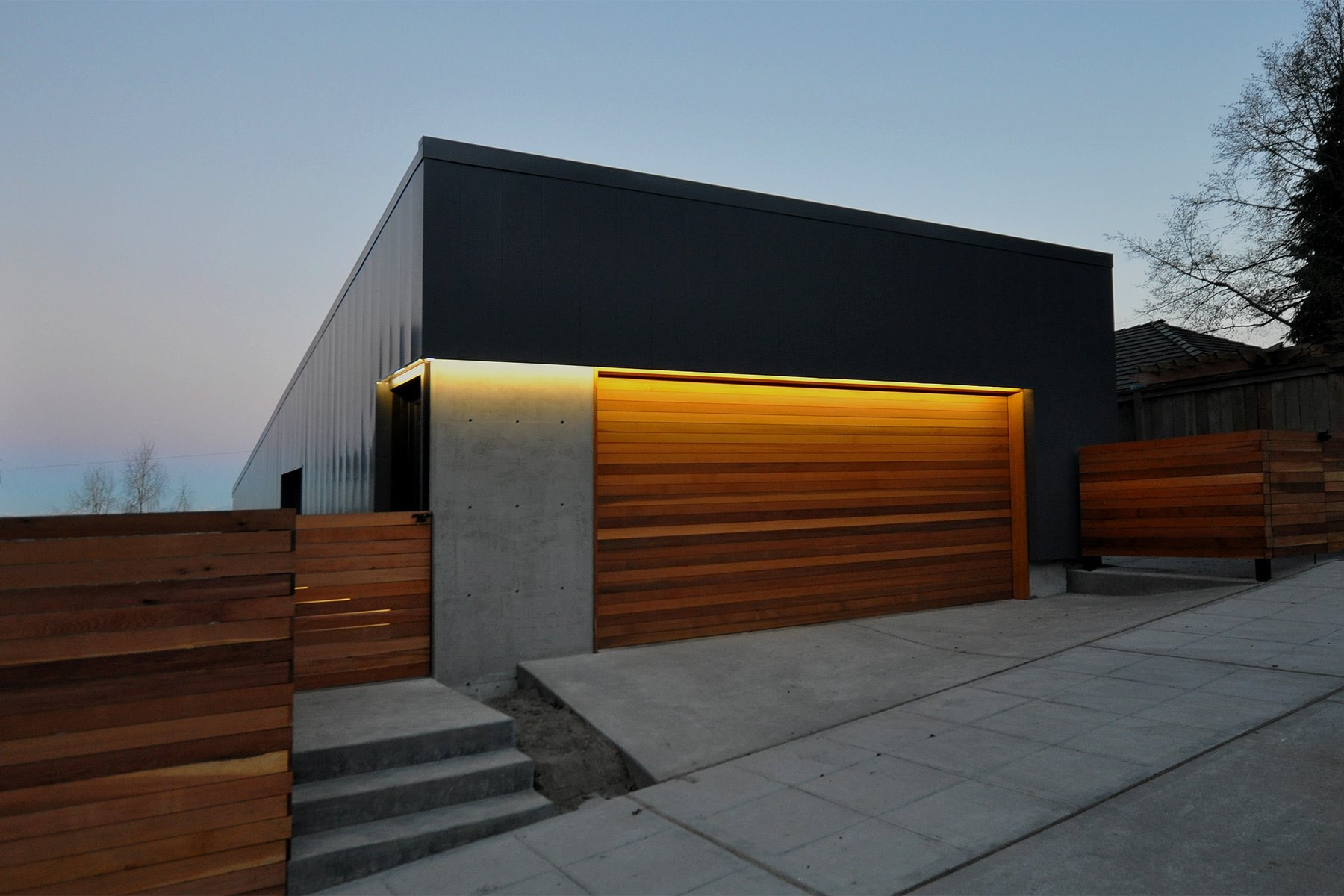 double-wooden-garage-door-&amp-motor-installed-combo